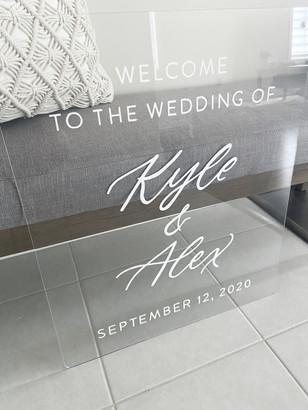 Clear Acrylic Sign Seating Chart Calligraphy Wedding Welcome Sign Wedding GTA Toronto York Region Calligraphy Calligrapher Megan Nicole Lettering