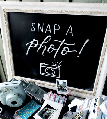 Chalkboard Calligraphy Sign Wedding Snap a Photo Clear Acrylic Sign Unplugged Ceremony Signature Drink Illustration Bar Menu Clear Acrylic Sign Seating Chart Calligraphy Wedding Welcome Sign Wedding GTA Toronto York Region Calligraphy Calligrapher Megan Nicole Lettering Order of Events Sign