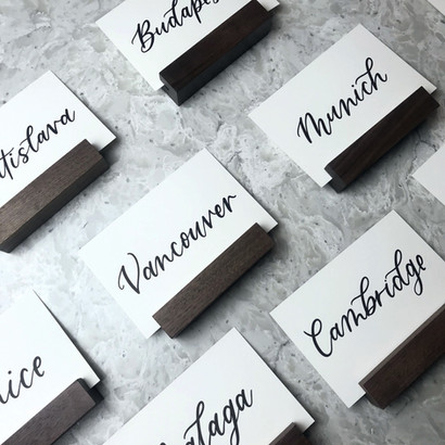 Travel themed wedding country table numbers Table numbers Clear Acrylic Sign Wooden paper tented Place Cards Clear Acrylic Sign Unplugged Ceremony Signature Drink Illustration Bar Menu Clear Acrylic Sign Seating Chart Calligraphy Wedding Welcome Sign Wedding GTA Toronto York Region Calligraphy Calligrapher Megan Nicole Lettering Order of Events Sign