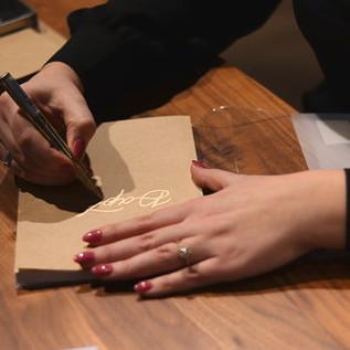 Live Event Calligraphy Wedding Calligrapher Greater Toronto Area York Region Calligrapher Engraver Megan Nicole Lettering
