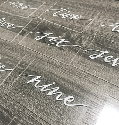 Table numbers Clear Acrylic Sign Wooden paper tented Place Cards Clear Acrylic Sign Unplugged Ceremony Signature Drink Illustration Bar Menu Clear Acrylic Sign Seating Chart Calligraphy Wedding Welcome Sign Wedding GTA Toronto York Region Calligraphy Calligrapher Megan Nicole Lettering Order of Events Sign