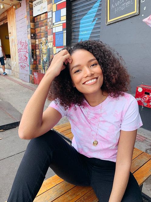 T-shirt Velu tiedye rosa