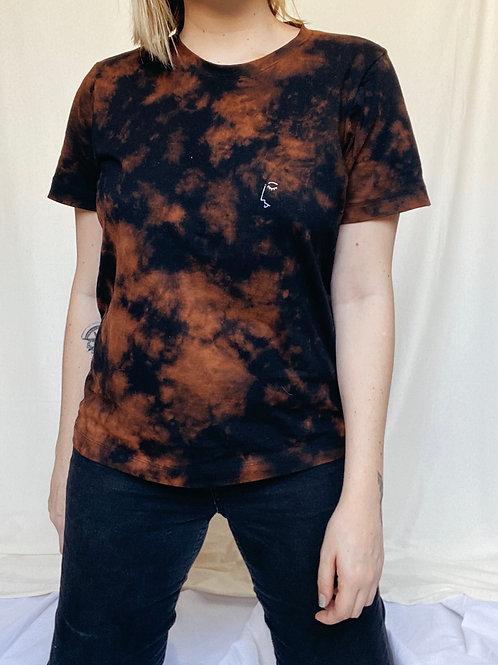 T-shirt Velu - tiedye preta