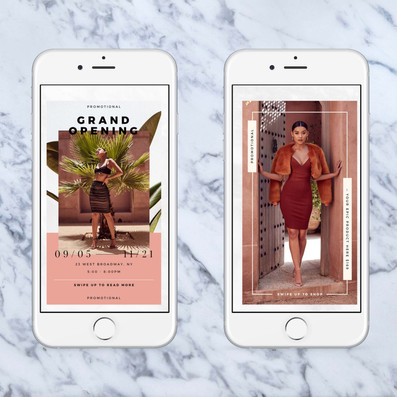 Instagram Visuals for Clothing Boutique