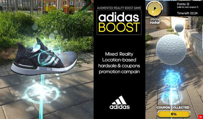 Adidas boost AR game