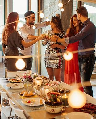 Bachelor and bachelorette party, festive party,