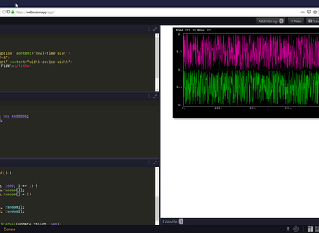 Using a local code playground to develop with SigPlot.