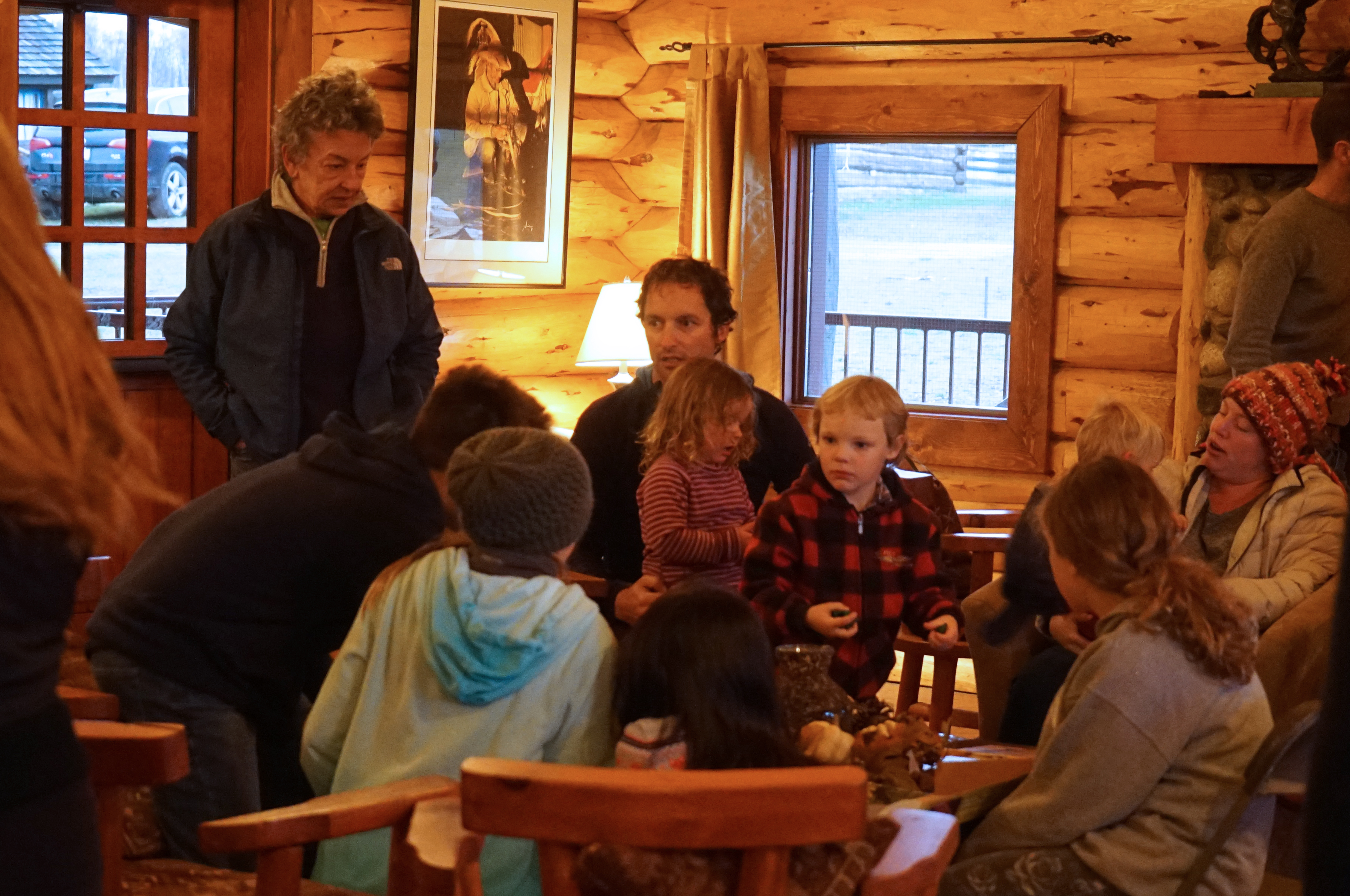 group in lodge