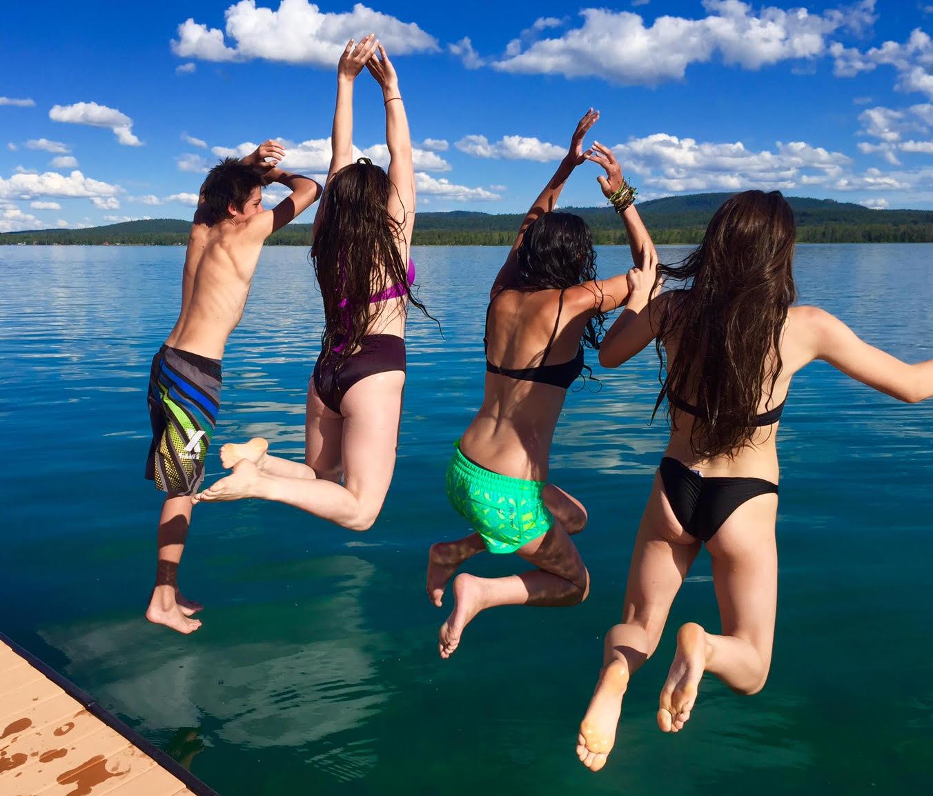 Jump in Lake
