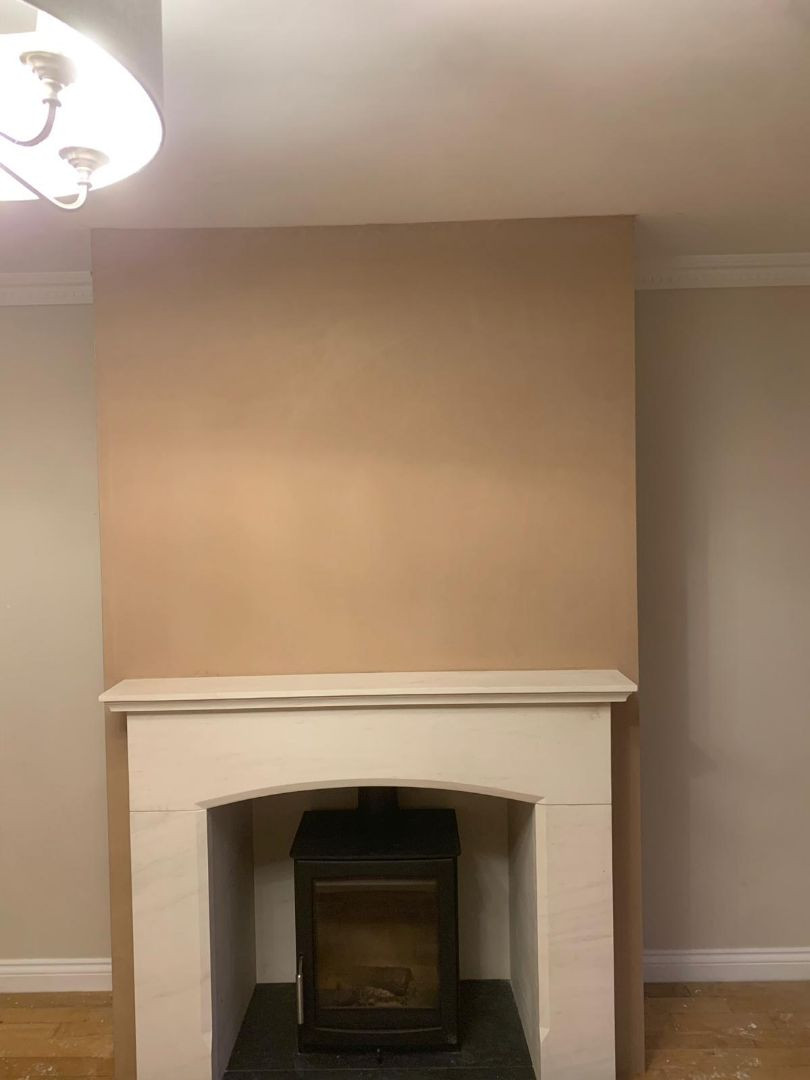 Fireplace plastered in Giffnock