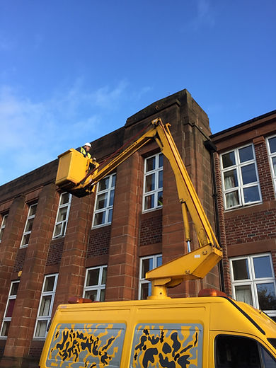 Cherry Picker Roofing Work