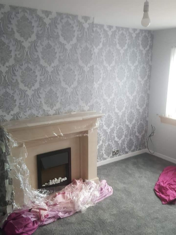 Newton Mearns Wallpapering job