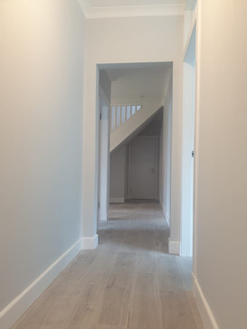 Hallway painted and decorated in Newton Mearns