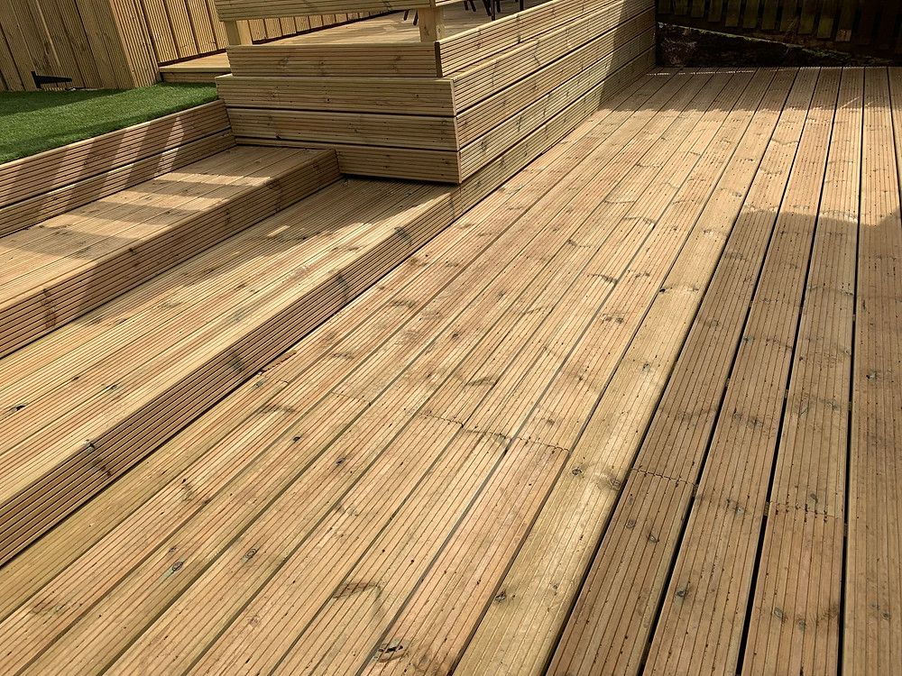 Lower decking area and steps replaced