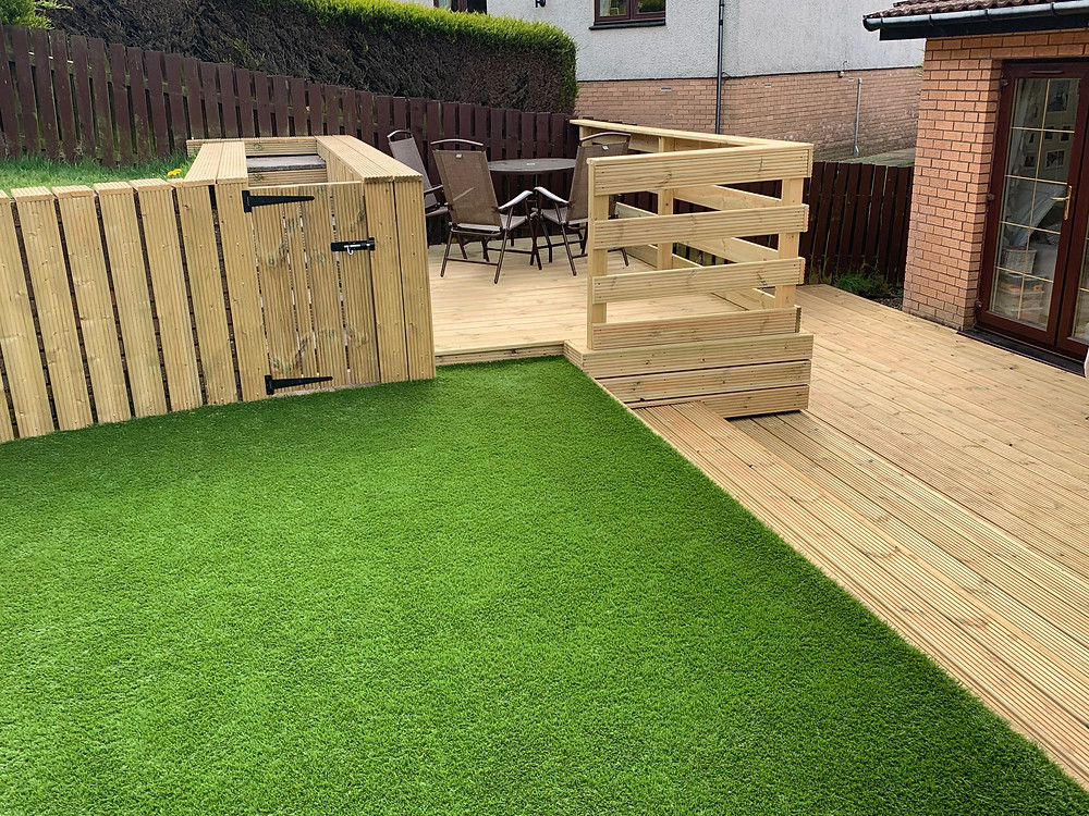Decking area completed