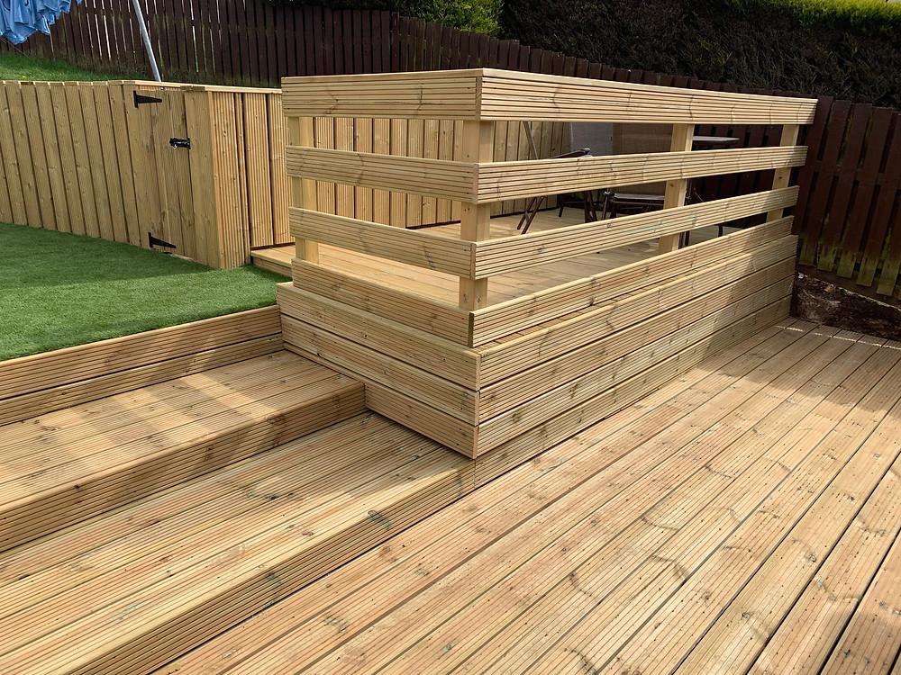 Lovely new handrail for raised deck area