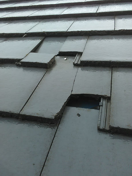 Damaged roof tiles in Clarkston