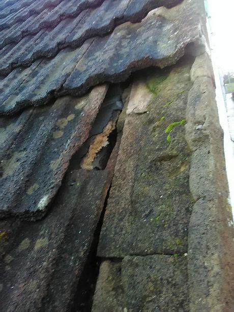 Damaged Domestic Tile