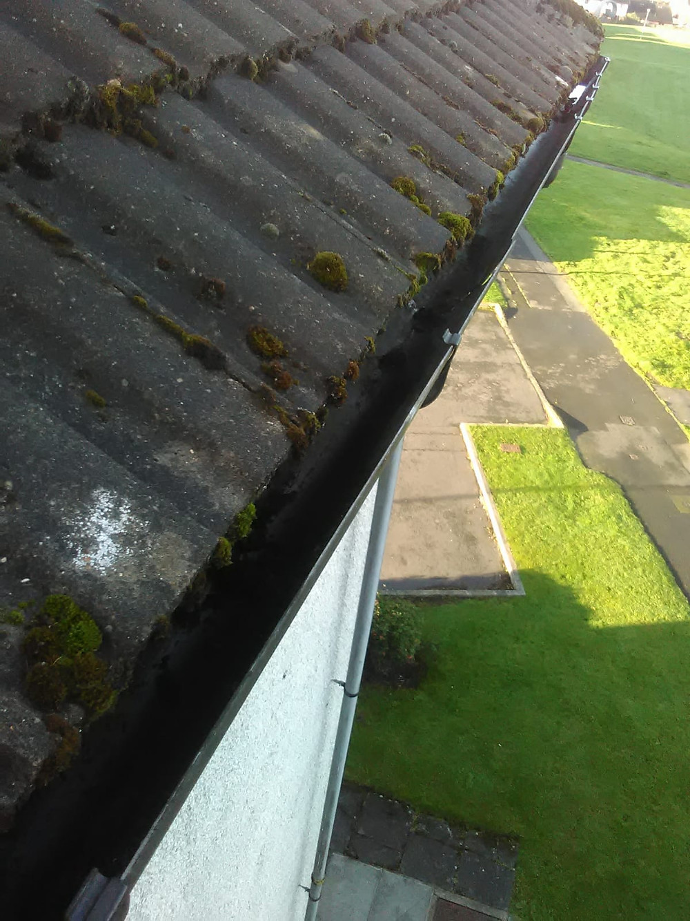 Nice newly cleaned Gutters