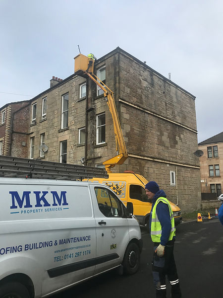 Commercial Gutter Cleaning Service in Giffnock