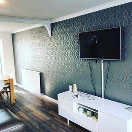 Wallpaper hung in Newton Mearns