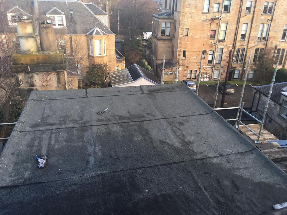 Dormer flat roof preparation Glasgow West end
