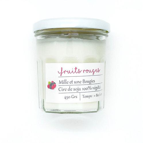 Bougie Pot parfum FRUITS ROUGES
