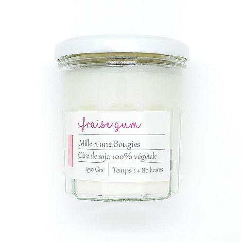 Bougie Pot parfum FRAISE GUM