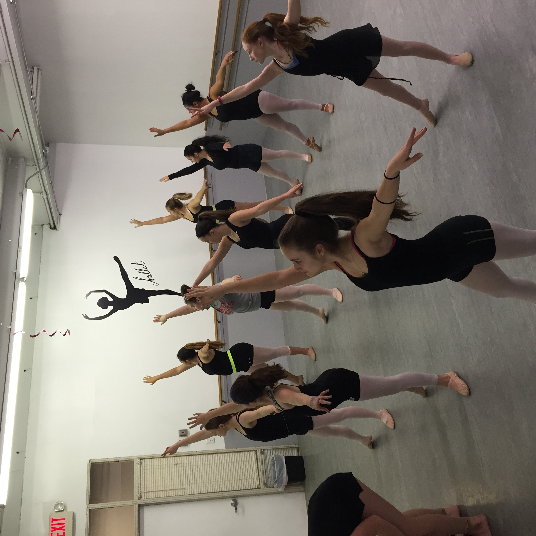First Position ballet dancers