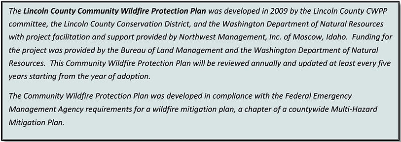 Lincoln county CWPP plan