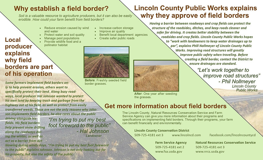 Local producer talking about why he does field borders