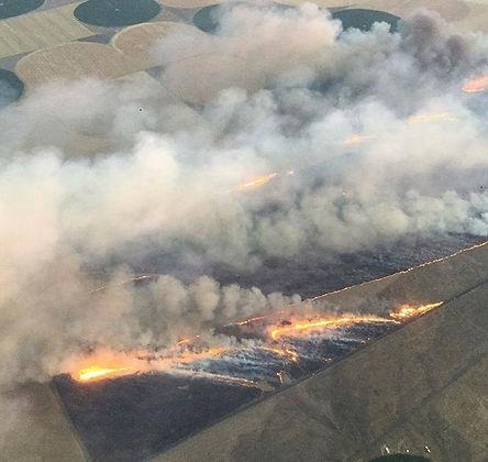 Buring range land near Odessa WA