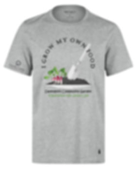"""I grow My Own Food "" fund raiser t-shirt. $20"