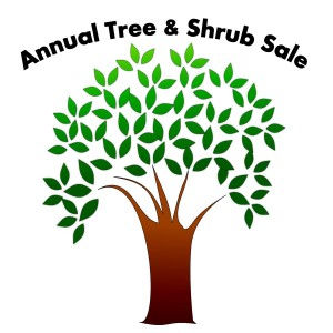 Graphic of a tree asksing for volunteers for anual tree sale