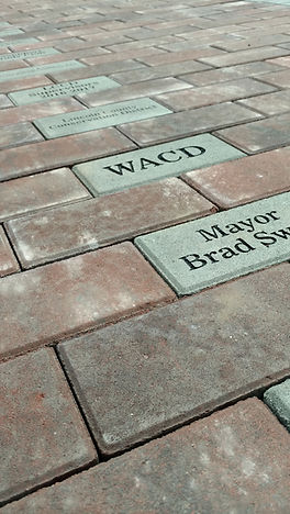 Engraved bricks in Community garden - $100 each for fund raiser