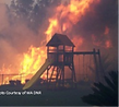 Burning childre's play structur