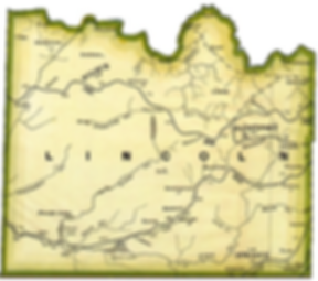 Map of Lincoln County