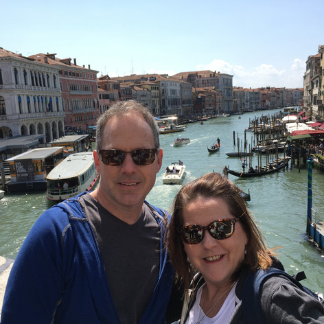 Tony's brother and wife in Venice.