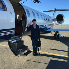 First time on a lear jet, wow, it was amazing.