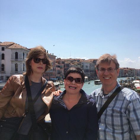Cathy, Cat and Tony in Venice.