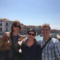 Cathy, Cat and Tony in Venice.