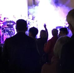 A crazy wild musical performance with an even crazier smoke machine gone wild.