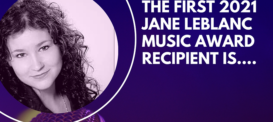 First Jane LeBlanc Music Award Winner.pn