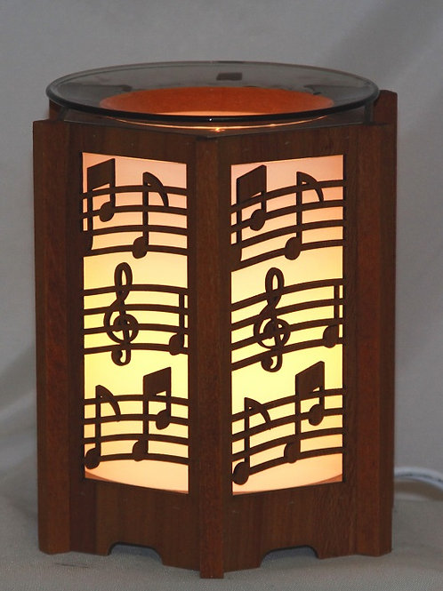Music Lover Wood Oil Warmer