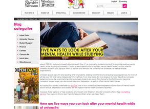 Mental Health at University