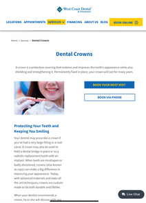 Crowns Services Page