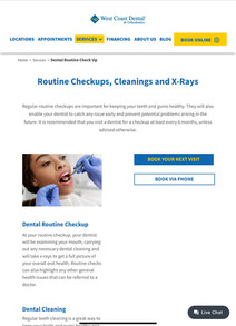 Check-up Services Page