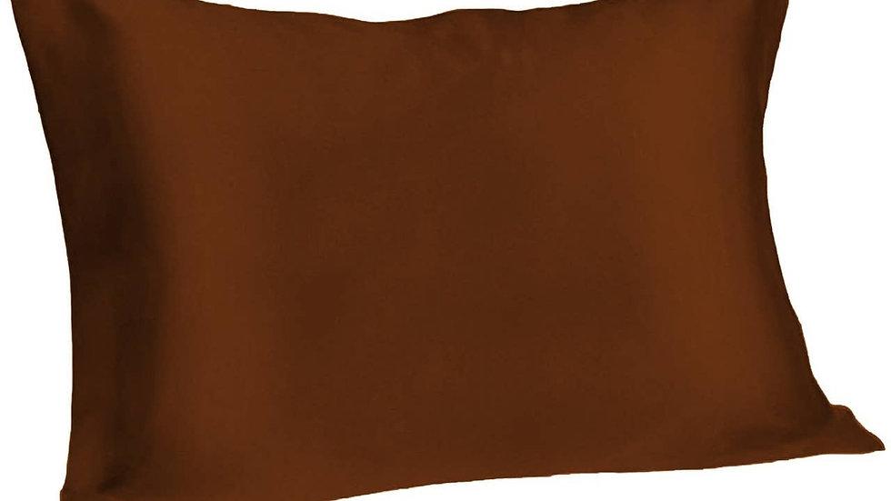 Espresso Queen Satin Pillowcase