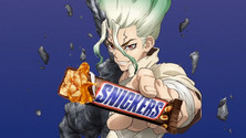 Snickers X Dr. Stone Twitter Campaign