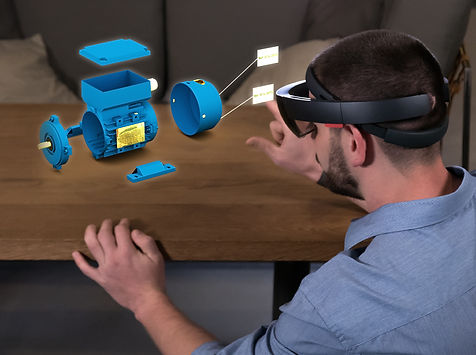 A man wearing a HoloLens